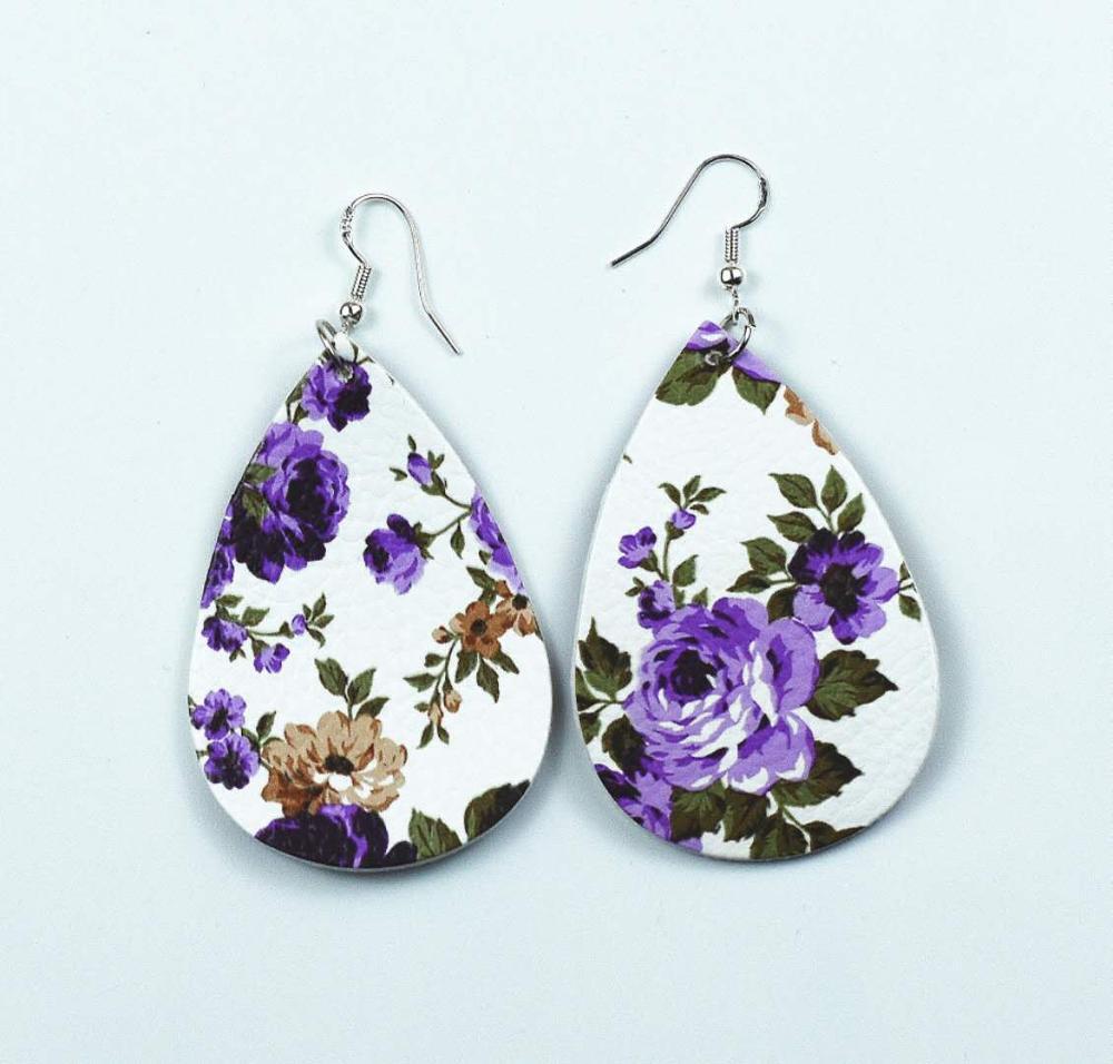 Fashion-pu-earrings-drop-shape-rose-pattern (4)