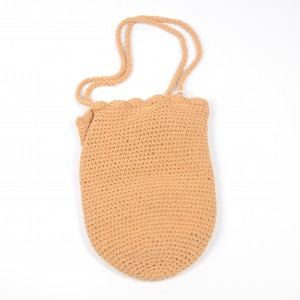 WENZHE One-shoulder Woven Bag Hand Hook Cotton Rope Holiday Beach Leisure Bag
