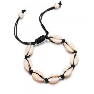 Newest Hot Sale Shell Bracelet Adjustable Handmade Rope Chain Seashell Sea Shell Bracelet