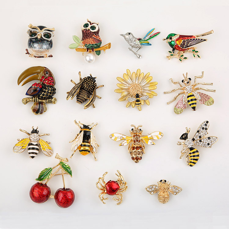 2019-new-painted-bee-brooch-animal-accessories (4)