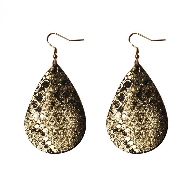 WENZHE Women Fashion Snake Pattern Teardrop Earrings Featured Image