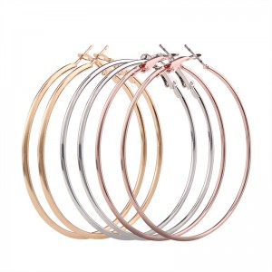 Wholesale Fashion 3 Pairs Simple Metal Big Circle Hoop Earrings for Women