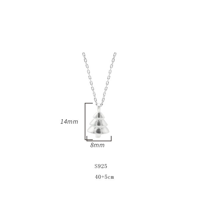 925-Sterling-Silver-Christmas-Trees-Pendant-Clavicle (3)
