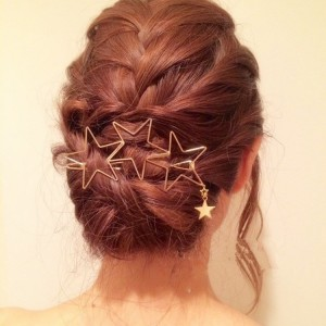 Hair clip Women Ladies Popular Hollow Star Tassel Hairpin Hair Pin Hair Clips