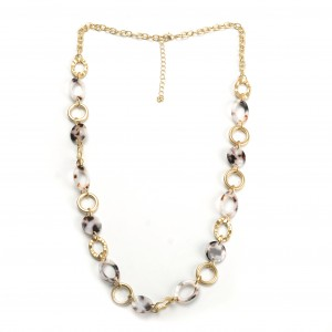 WENZHE Fashion necklace long chain acrylic acetate necklace for women party gifts