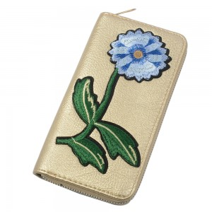 WENZHE Best Seller Unique Embroidery Flower Design Wholesale Lady Phone Wallet