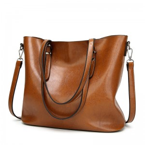 WENZHE New Handbag European and American Style Simple PU Leather Material Casual Ladies Totes