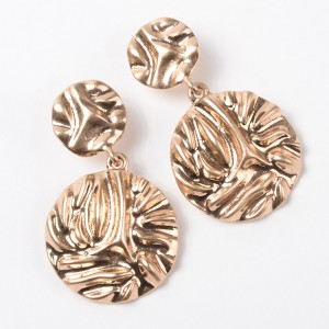 Fashion Popular Alloy Jewelry Gold Round Drop Earring