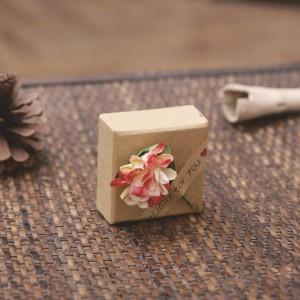 Valentine's Day ring gift box custom flower kraft paper jewelry box