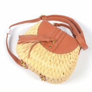 WENZHE Bohemia Style Handmade Summer Beach Shoulder Bag Women Paper Straw Bag