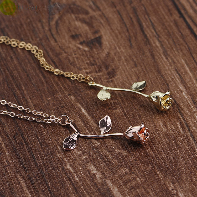 14k-Gold-Chains-Rose-Flower-Necklace-Women (1)