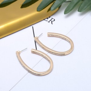 New Trend Women U Shape Stud Earrings Gold Beautiful Designed Earrings