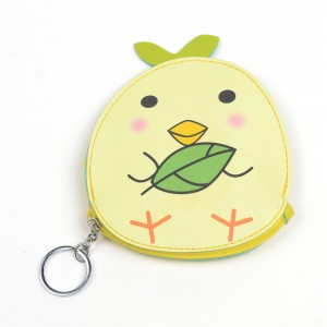 WENZHE Cute Cartoon Chick PU Animal Coin Purses