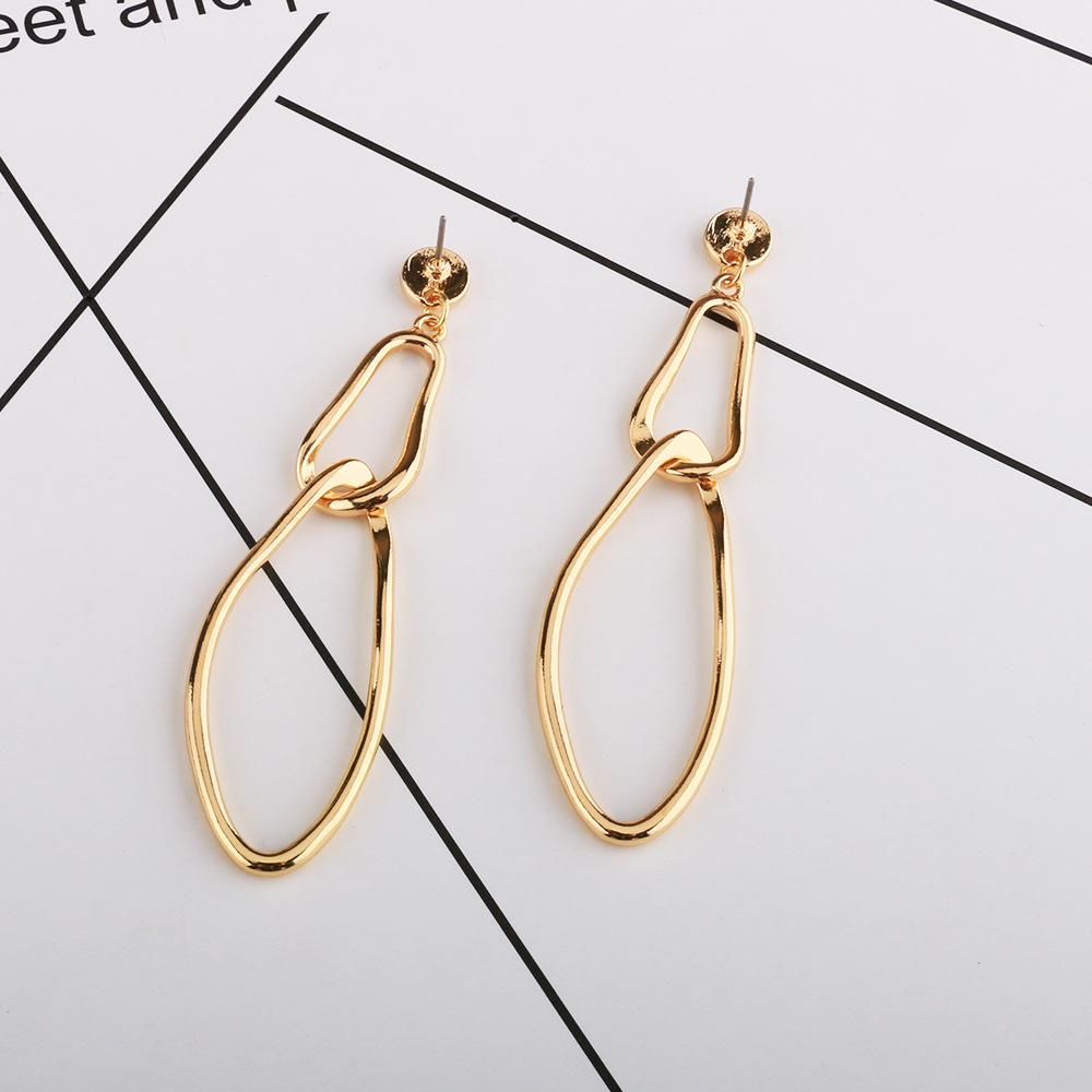 bb55e90b972dc Fashion gold jhumka earrings design circle statement womens earrings ...