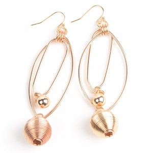 WENZHE Bohemian Style Gold Alloy Ball Drop Earring