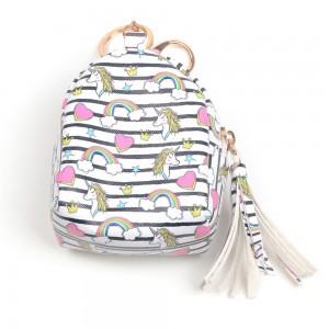 WENZHE Girls Wallet Bag Unicorn Coin Purse Pouch Mini Charm Keychain Bag