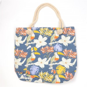 WENZHE New Fashion Tote Bag Floral Fabric Shopping Bag Handbag