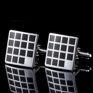 Business Metal Cufflinks Men's Square Round Shirt Cuffs