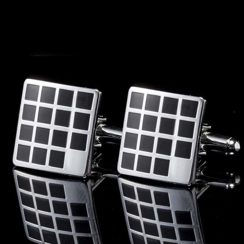 Business Metal Cufflinks Men's Square Round Shirt Cuffs Featured Image