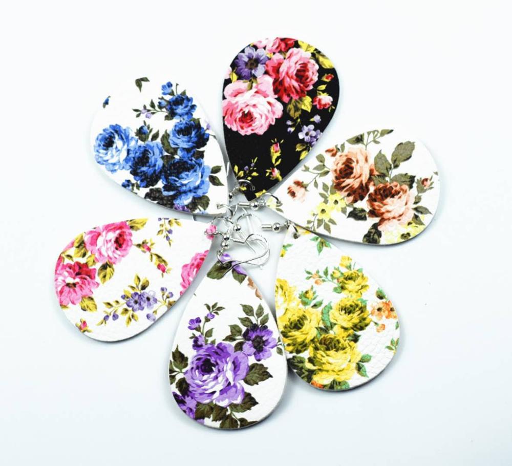 Fashion-pu-earrings-drop-shape-rose-pattern (3)