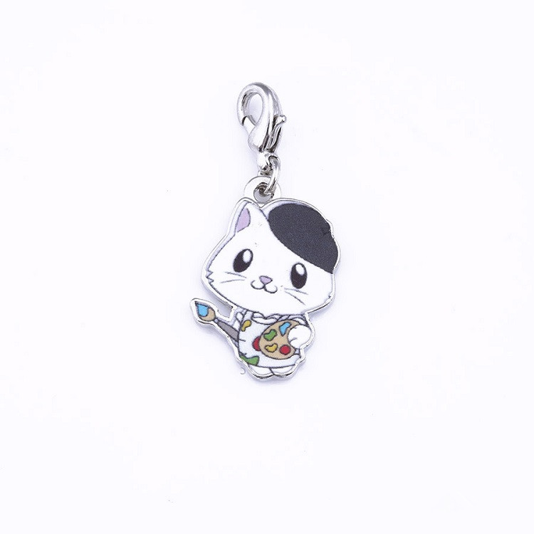2019 New Cute Cat Silver-Plated Jewelry Keychain Featured Image