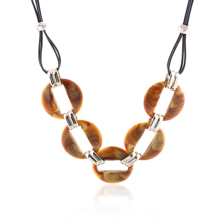 Fashion-colorful-acrylic-pendant-necklace-wax-line (5)