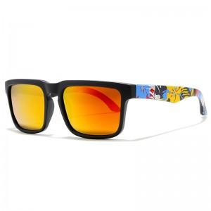 WENZHE Classic Polarized Sunglasses Men Driving Hiking Sunglasses Graffiti Frames Male Sun Glasses