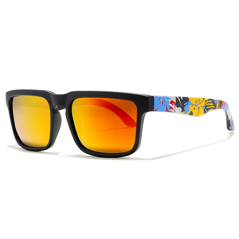 WENZHE Classic Polarized Sunglasses Men Driving Hiking Sunglasses Graffiti Frames Male Sun Glasses Featured Image