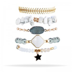 Jasper Jewelry Bracelet Set Charm Natural Stone Bead Bracelet For Ladies