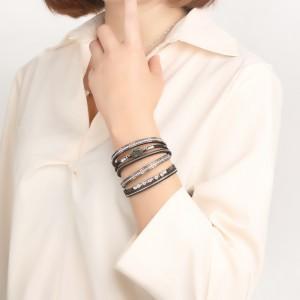 WENZHE New Abalone Shell Rhinestone Magnet Buckle Bracelet