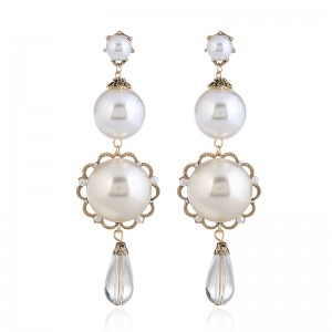 New Hot Sell Latest Design Handmade Pearl Drop Earrings Designs For Women Wedding Engagement Party