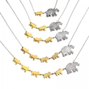 High quality factory price momma bear necklace mama bear jewelry necklace