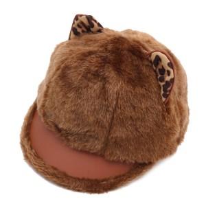 WENZHE Autumn Winter Ladies Cartoon Cute Cat Ear Rabbit Fur Painter Hat