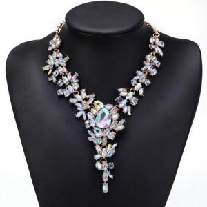 Women Crystal Choker Statement Chunky Necklace Accessories Fashion Jewellery
