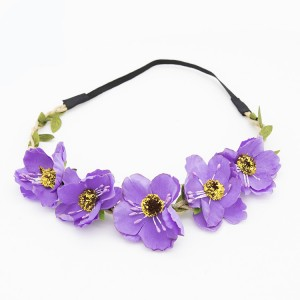 Fashion Women Bride Flower Headband Lady Bohemian Rose Flower Crown Hairbands