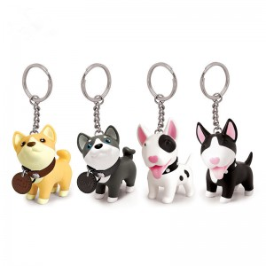Puppy keychain pvc cartoon keychain