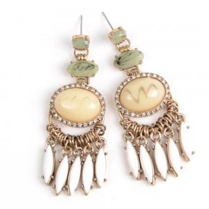 WENZHE Gemstone Crystal Drop Earrings For Women