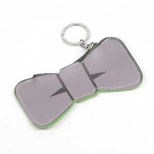 WENZHE New Design Cute Girl Bow Leather Keyring Coin Purses