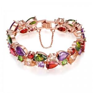 Rose color gold zircon girl bracelet new bracelet multi-layer jewelry