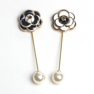 WENZHE Flower Design Enamel Lapel Scarf Brooch Pins