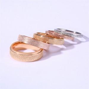 2/4/6MM titanium steel matte ring rose gold ladies ring silver ring