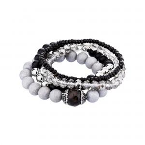 Custom Wholesale Handmade Multilayer Gemstone Charm Wrap Stone Bead Bracelet