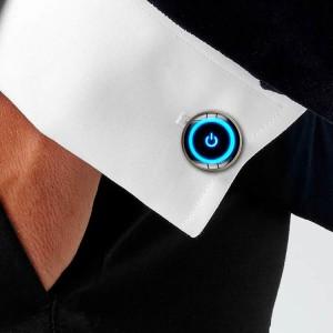 2019 new men and women creative power button gems cuffs cufflinks