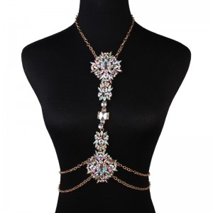 WENZHE Wholesale Fashion Jewelry Body Chain Chic Crystal Necklaces For Women