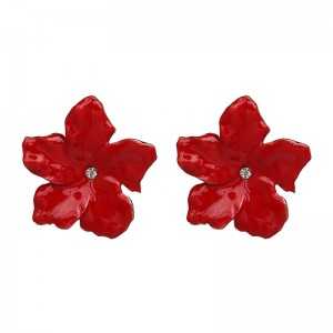 European and American Style Flower Stud Earrings Fashion Designs Multicolor Flower Custom Enamel Earrings
