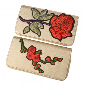 WENZHE Hot Selling Korean Style Ethnic Flower Embroidered Purse For Lady