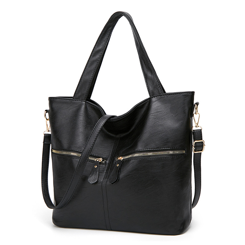 WENZHE Autumn and Winter Tote Shoulder Bag Luxury Pu Leather Women Handbags Featured Image