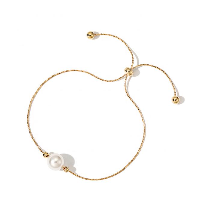 Fashion Shell Pearl Minimalist Adjustable Bracelet Featured Image