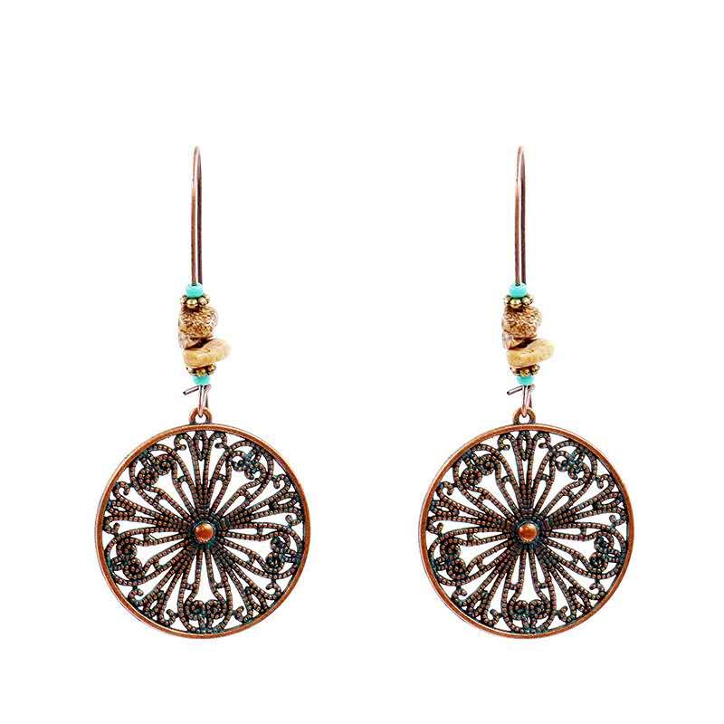 Popular openwork alloy earrings vintage hoop earrings jewelry for women Featured Image
