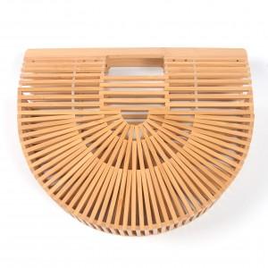 WENZHE Vintage Beach Women Handmade Bamboo Hollow Summer Tote Purse Handbag Basket Straw Bag